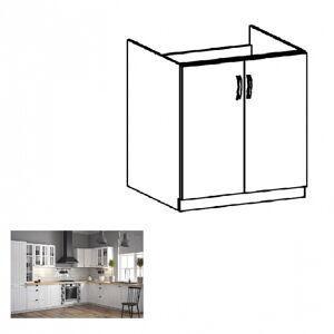 alsó mosogatószekrény D80Z, fehér/sosna andersen, PROVANCE