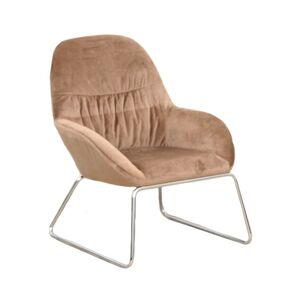 Dizájn fotel, barna/króm, MARTEL
