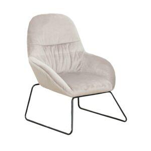 Dizájn fotel, szürke/fekete fém, MARTEL