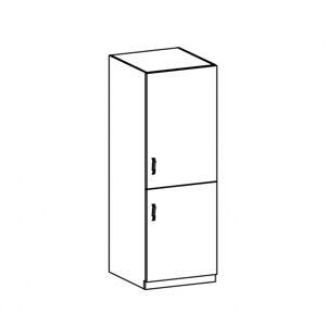 Hűtőgép szekrény, fehér/sosna andersen, jobbos, PROVANCE D60R