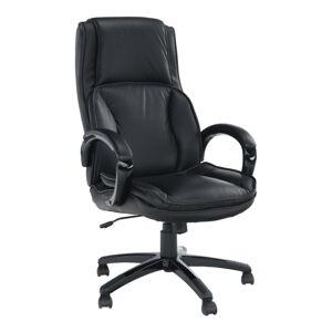 Irodai szék, bőr/műbőr fekete, LUMIR