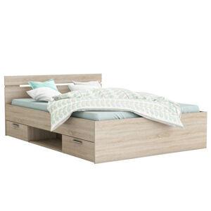 Ágykeret, 160x200, sonoma tölgyfa, MICHIGAN