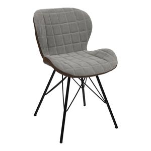 Dizájn szék, bézs/barna, LORANA