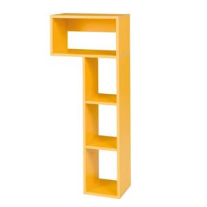 Könyvespolc B9, sárga, MATEL