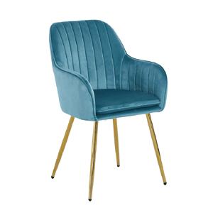 Dizájn fotel, neomint Velvet szövet/gold króm-arany, ADLAM