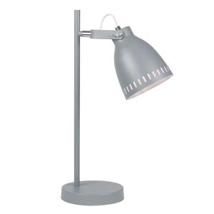 Asztali lámpa, szürke/fém, AIDEN TYP 1