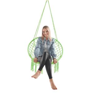 Függő szék, pamut+fém/zöld greenery, AMADO 2 NEW