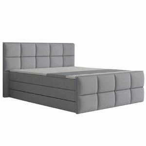 Kényelmes ágy, szürke szövet, 160x200, RAVENA KOMFORT