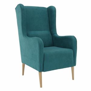 Kényelmes fotel, türkíz/bükk, BREDLY