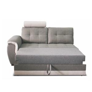 2-személyes kanapé fejtámlával és nyitható funkcióval, balos, szövet Inari 91 szürke + Inari 22 bézs, RUBA