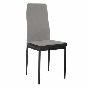 Étkező szék, világosszürke/fekete, ENRA