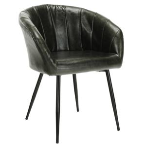 étkező fotel, olivazöld/fekete, FIORA