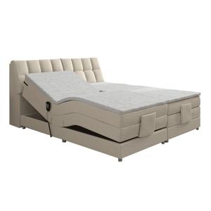 Elektromos állítható ágy, boxspring, bézs, 160x200, GERONA