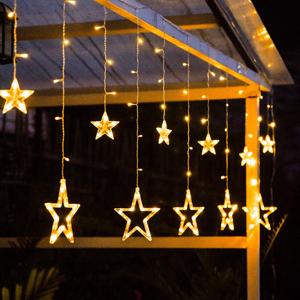 LED fényfüggöny, csillagok, 250x73 cm , GLOD TYP 1