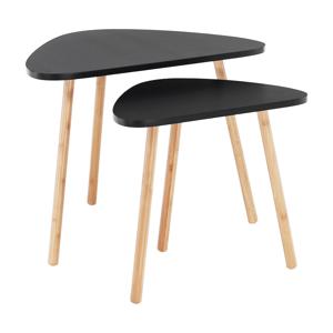 Két darabos asztalkészlet, fekete/természetes, GOREJ