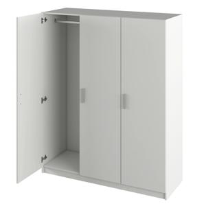 3 ajtós szekrény, fehér, GREEN