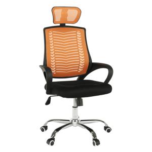 Irodai szék, narancssárga/ fekete/króm, IMELA TYP 1