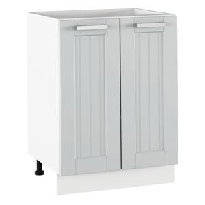 Alsó szekrény, világosszürke/fehér, JULIA TYP 56