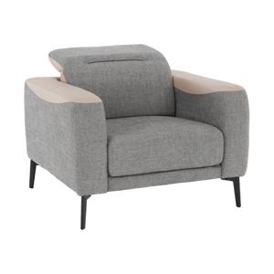 Fotel, szürke/bézs, KARITON