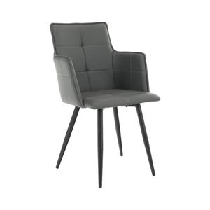 Dizájnos fotel, szürke TAUPE/fekete, KOMBO