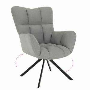 Dizájnos pörgő fotel, szürke/fekete, KOMODO