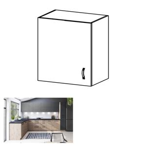 Felső szekrény, artisan tölgy/szürke matt, balos, LANGEN G60G