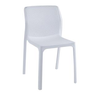 Rakásolható szék, fehér/műanyag, LARKA
