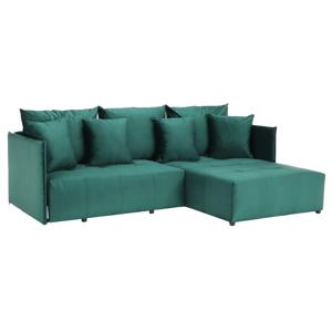 Univerzális ülőgarnitúra, smaragd, LENY ROH