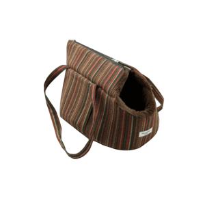 Kutyahordozó táska, kicsi, csíkos minta, 40x30x30cm, MANIK TYP1