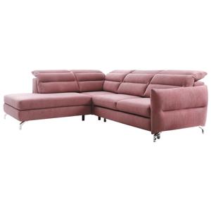 Ülőgarnitúra, lilás rózsaszín, balos kivitel, GREG