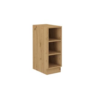 Alsó nyitott szekrény, artisan tölgy, MONRO 30 D OTW BB