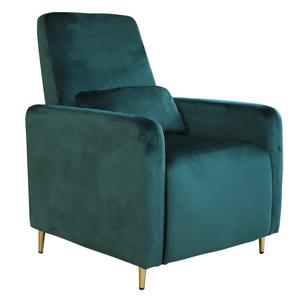 Állítható relaxációs fotel, smaragd Velvet szövet, NAURO