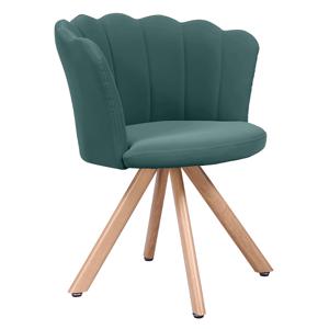 Dizájn fotel, Art-deco, ekobőr, zöld, NOBIA