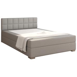 Boxpring típusú ágy 140x200, szürkésbarna taupe, FERATA TV KOMFORT