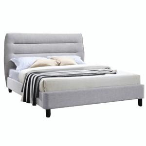 Dupla ágy, szürke melír, 160x200, MAJESTIK