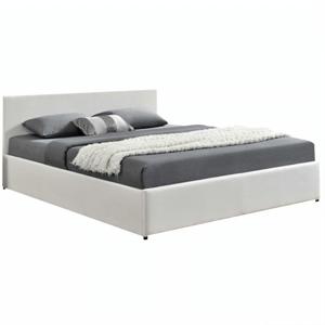 Modern francia ágy RGB LED világítással, fehér, 160x200, JADA NEW