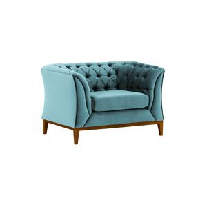 Fotel, kékeszöld, POWEL 1 WF
