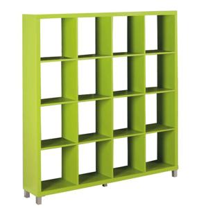 Könyvespolc, zöld, TOFI 6 NEW