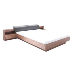 Dupla ágy, 160x200, dió/grafit, REKATO
