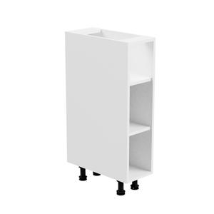 Alsószekrény, fehér/fehér extra magasfényű, jobbos, AURORA D30