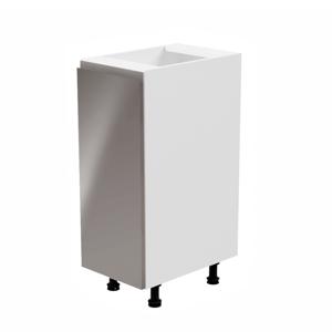 Alsószekrény, fehér/szürke extra magasfényű, balos, AURORA D30