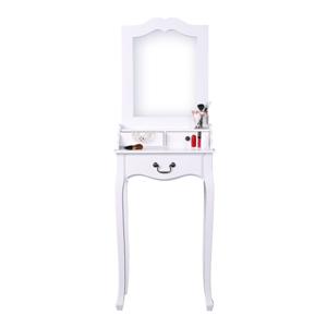 Fésülködőasztal, sminkasztal, fehér, GINO