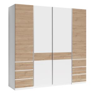 Négyajtós szekrény, artisan tölgy/fehér, TALKA