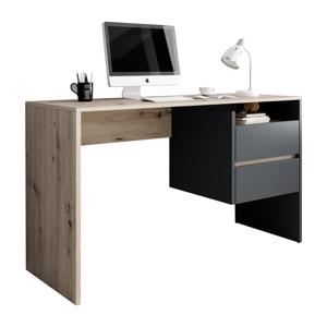 PC asztal, artisan tölgy/grafit, TULIO
