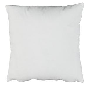 Párna, bársony anyag fehér, 45x45, ALITA TYP 13