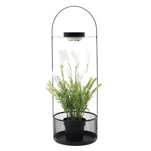 Dekoratív állvány virágcsereppel, LED világítás, 58 cm, művirággal, VELOM TYP 2