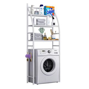 Polcállvány a mosógép fölé, fehér, VIMERA